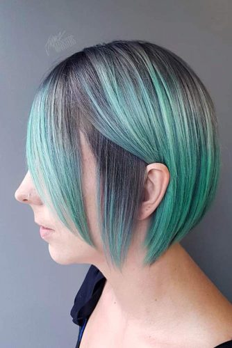 Pastel Teal Color Hair Style #greenhair