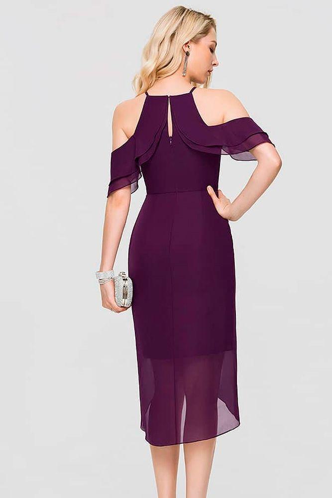 Chiffon Dress With Falling Sleeves #chiffondress #formaldress