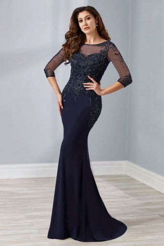 Long Dark Dress With Embellishments #longdress #eveningdress