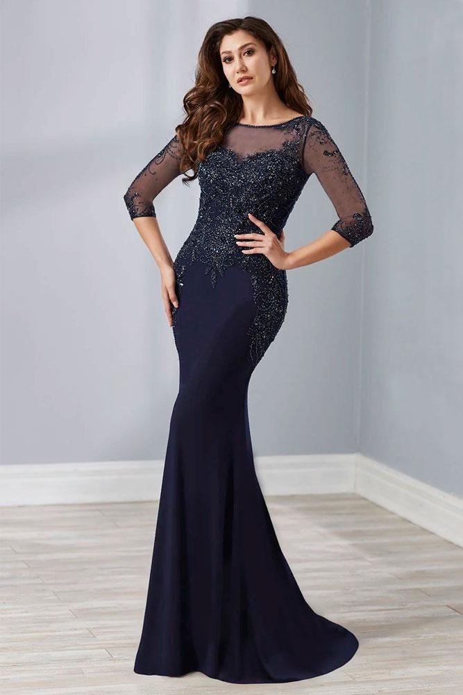 Long Dark Dress With Embellishments #longdress #eveningdress