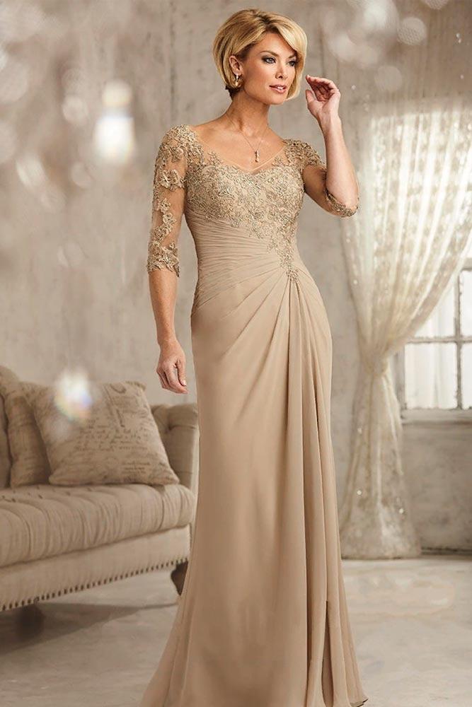 Dress With Cascading Draping #longdress #elegantdress