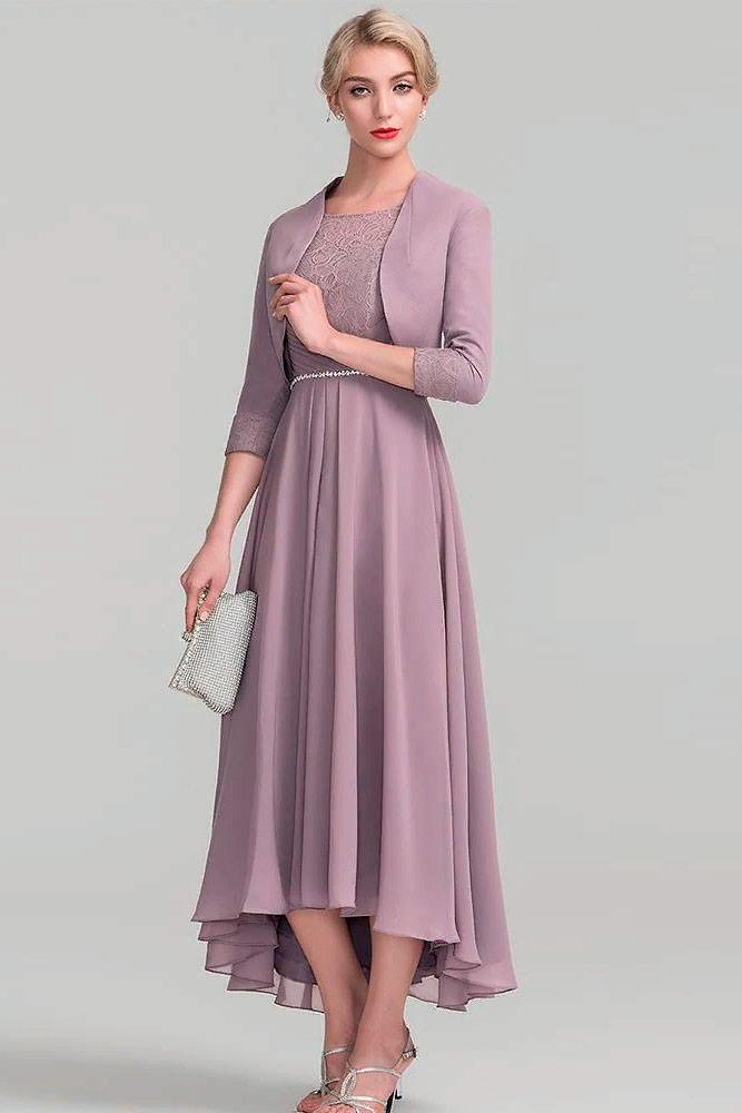 Dress With A Natural Waist And A Fuller Skirt #eveningsuit #formaldress