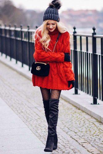 Bright Red Sweater #redsweater