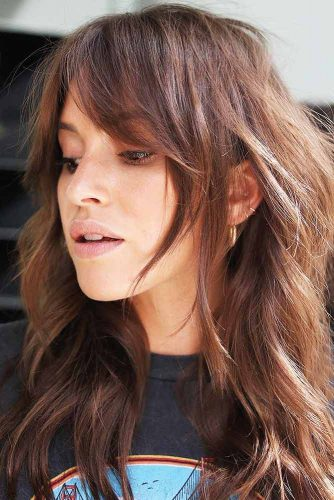 Tucked Bang With Shaggy Layers #bangs #longhair