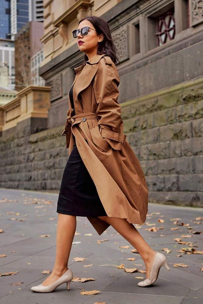 Classy Brown Trench For Everyday Look #browntrench