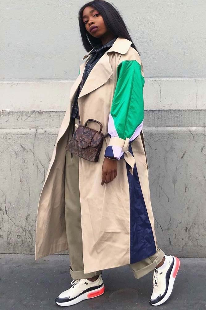 Beige Combined Trench Coat Outfit #casuallook #beigecoat