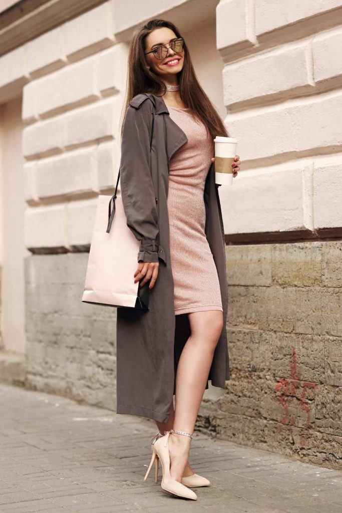 Trench Coat with Dress