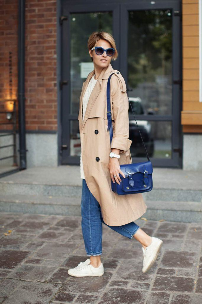 Boyfriend Jeans with Trench Coat
