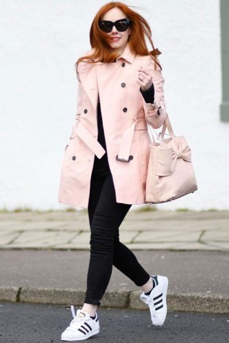 Soft Pink Trench Coat For Girly Casual Look #softpink #pinktrenchcoat