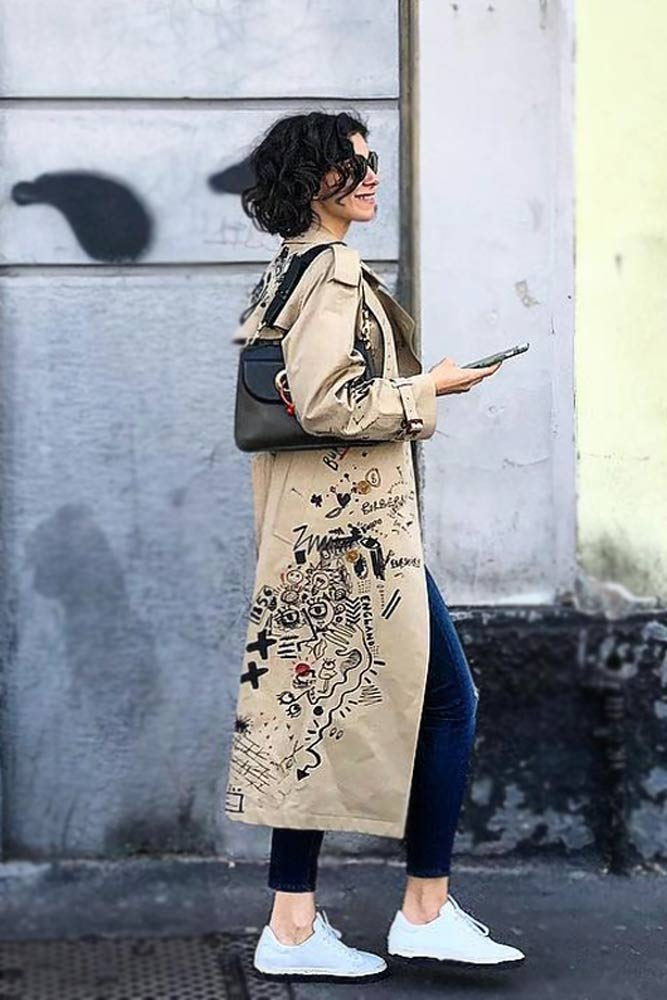 Noticed Patterned Trench Coat #printcoat #patternedcoat