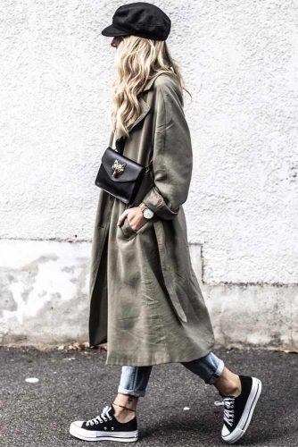 Khaki Trench For Comfy Street Outfit #khakitrench