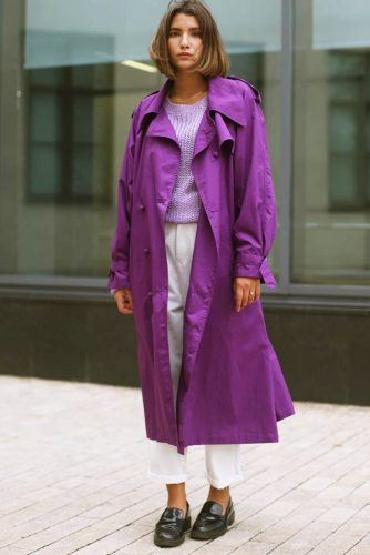 Ultraviolet Trench Coat For Everyday Outfit #ultraviolettrenchcoat