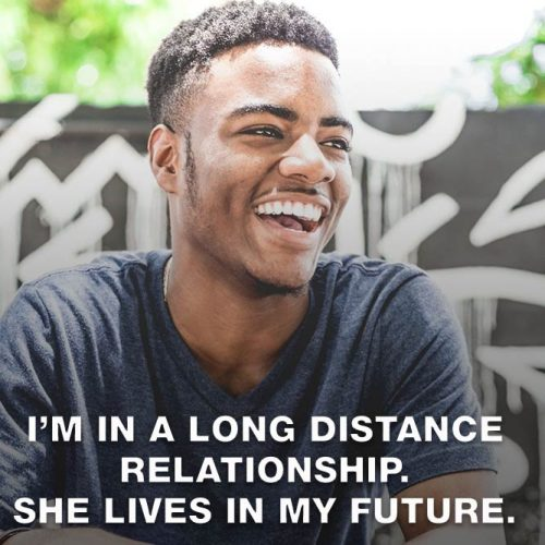 I'm in a long distance relatinoship. She lives in my future. #lovememes #relationshipmemes #realtalksmeme