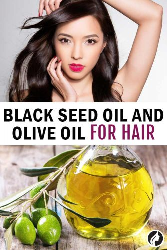 Black Seed Oil And Olive Oil For Hair #haircare #diyrecipe
