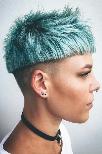 Sharp And Daring Bowl Undercut #bowlcut #layeredhair #pixie #undercut