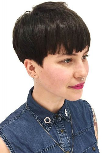 Neat And Curvy #bowlcut #pixie #layeredhair