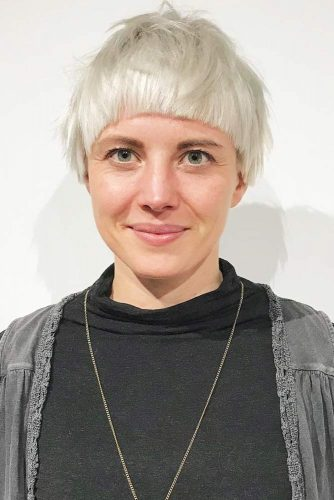 Tousled Bowl Haircut #bowlcut #pixie #bangs