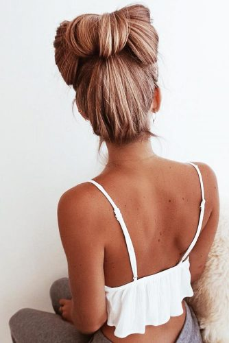 A Bow High Bun #bun #updo