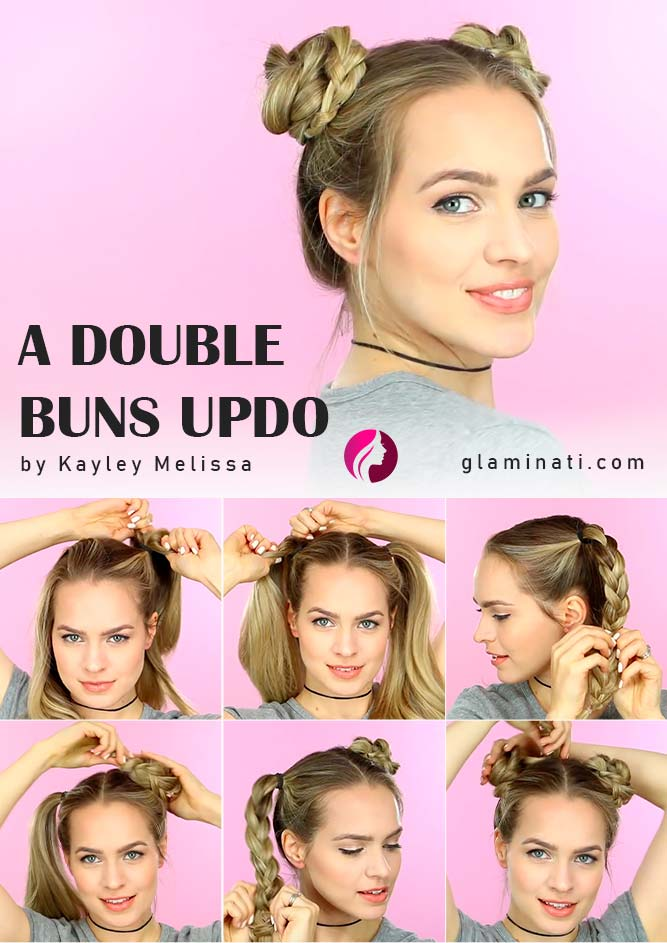 A Double Buns Updo Tutorial #spacebuns #doublebuns
