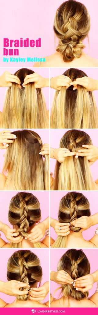 A Dutch Braid Into A Bun Tutorial #bun #hairtutorial