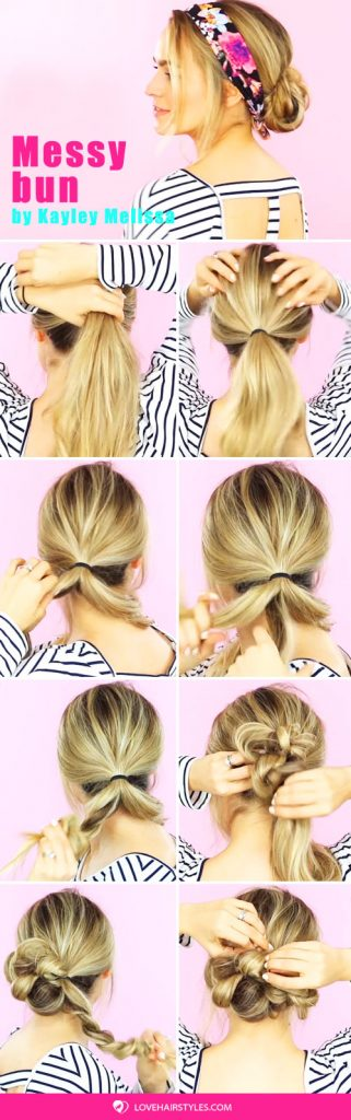 A Messy Bun Tutorial #hairtutorial #bun