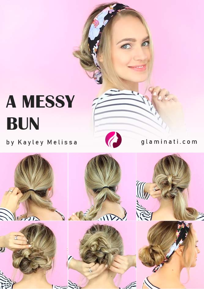 A Messy Bun Tutorial #messybun #tutorial