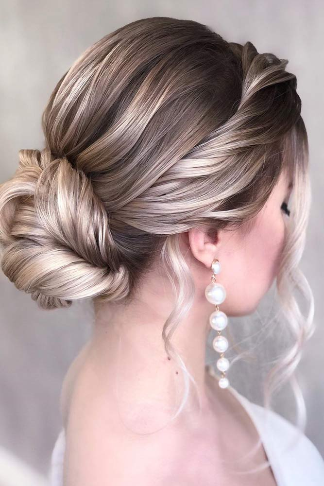 Low Bun With Twisted Crown #twistedhairstyle #prettyhairstyles