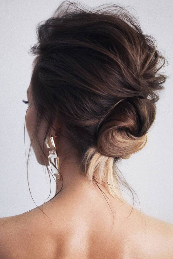 A Low Twisted Bun #updo #bun