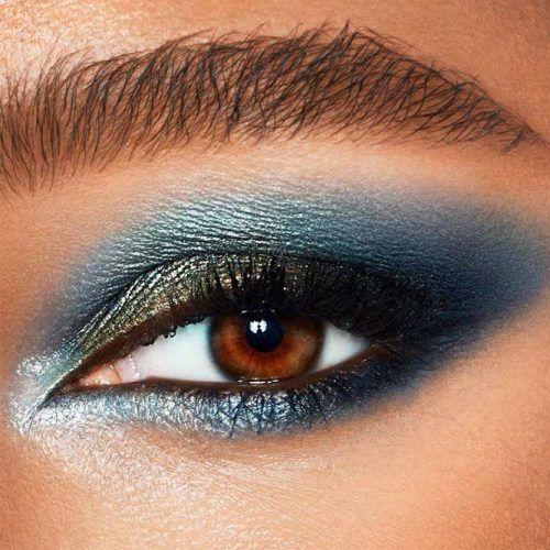 Bold Blue Smokey Eyes Makeup #bluesmokey
