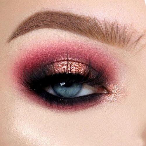 Glitter Smokey Eye Makeup #glitter #smokey