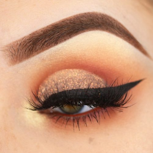 Peach Cut Crease #cutcrease #peach