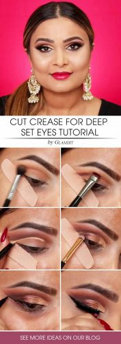 Cut Crease Makeup Tutorial #cutcrease #tutorial