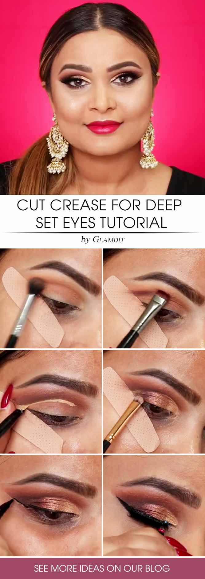 Cut Crease Makeup Tutorial #cutcrease #tutorial