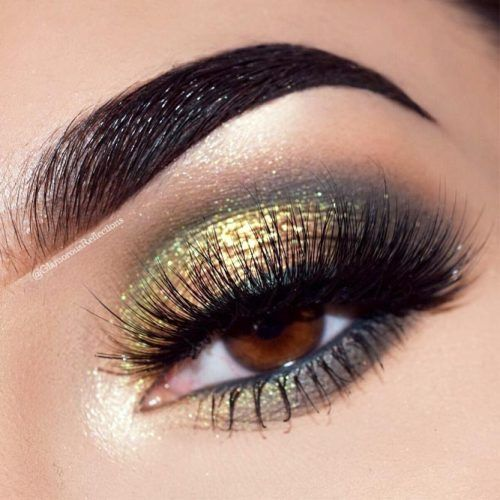 Shimmer Smokey Makeup For Deep Set Eyes #shimmersmokey