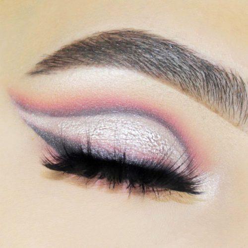 Gray Cut Crease Makeup Idea #grayshadows #cutcrease