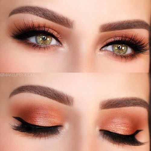 Copper Smokey With Winged Eyeliner #blackeyeliner
