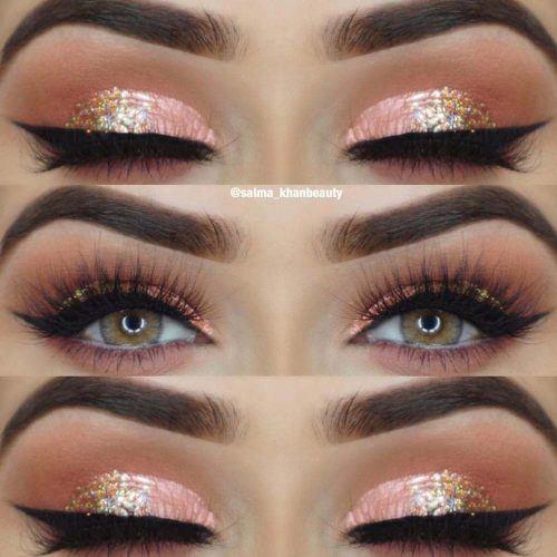 Glitter Eyeshadow Makeup Idea #pinkeyeshadow