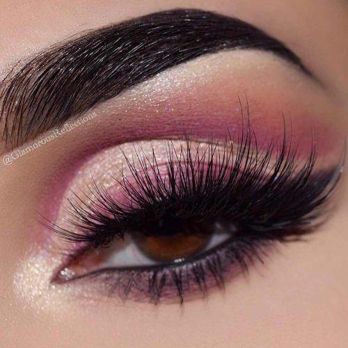 Pink Cut Crease Makeup Idea #pinkeyeliner #cutcrease