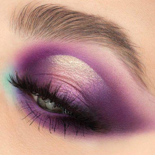 Purple Smokey Makeup For Deep Set Eyes #purplesmokey