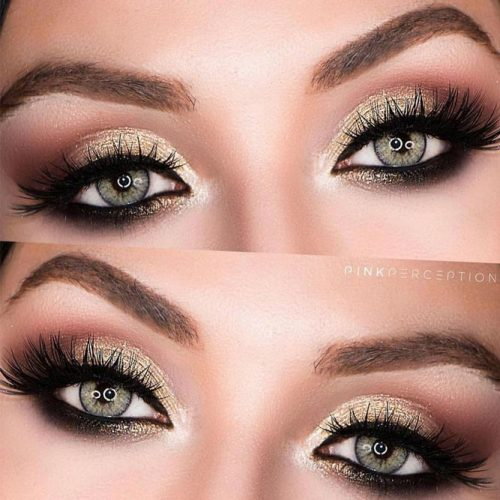 Shimmer Smokey Eyes #smokey #shimmer