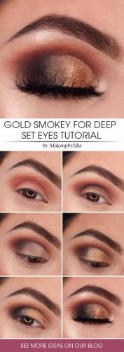Gold Smokey Eyes Tutorial #smokey #tutorial