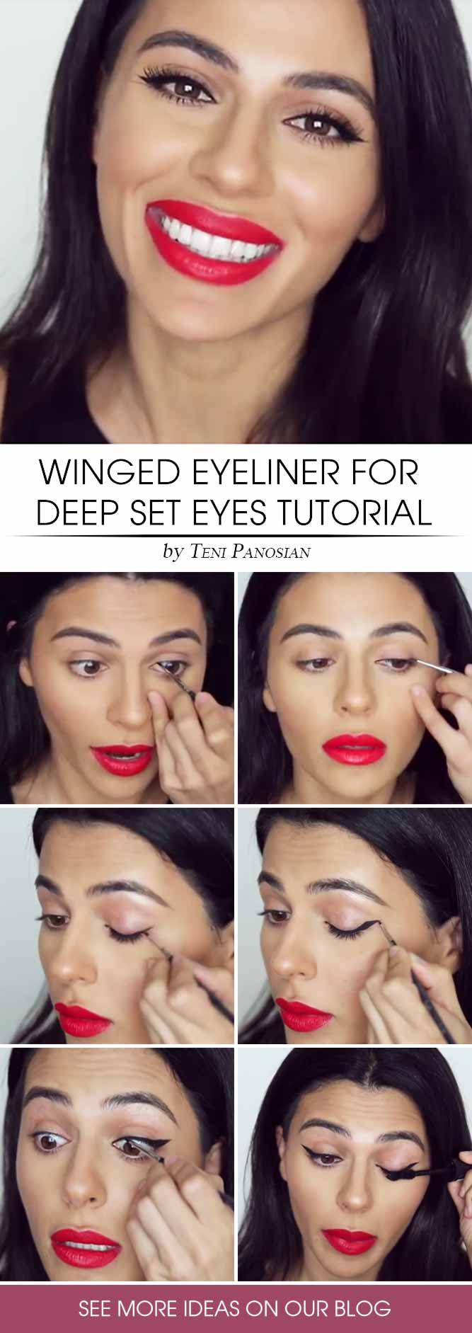 Black Eyeliner Tutorial #eyeliner #tutorial