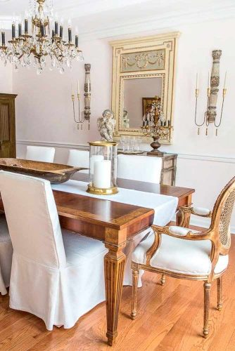Blended Design For Dining Room #frenchcountryinterior #stylishhomedecor