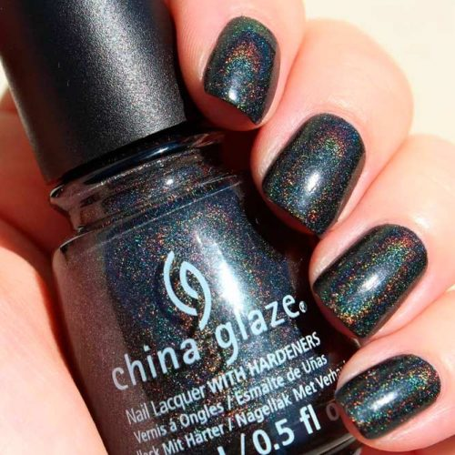 Maliboo-Boo By China Glaze #blacknails #shortnails