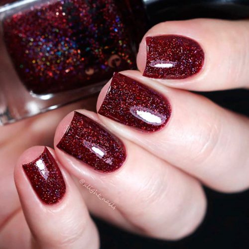 Garnet From the Cirque Colors Facets Collection #burgundynails #sparklynails