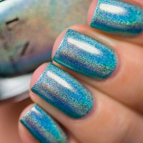Beach House From The ILNP Ultra-Holo Collection #sparklynails #holonails #shortnails
