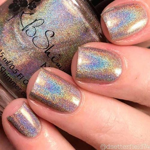 You Are Brew-Tiful From The KBShimmer Holo-Day Collection #sparklynails #shortnails