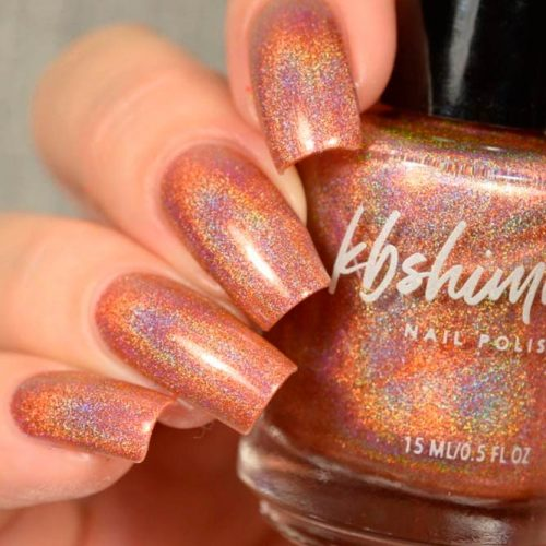 Smashed Linear Holographic Nail Polish By KBShimmer #longnails #sparklynails