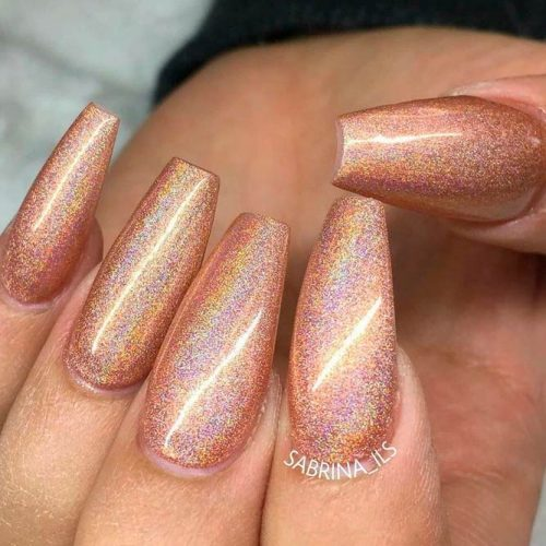 Wavelength From LeChat Spectra Perfect Match #longnails #coffinnails #shinynails