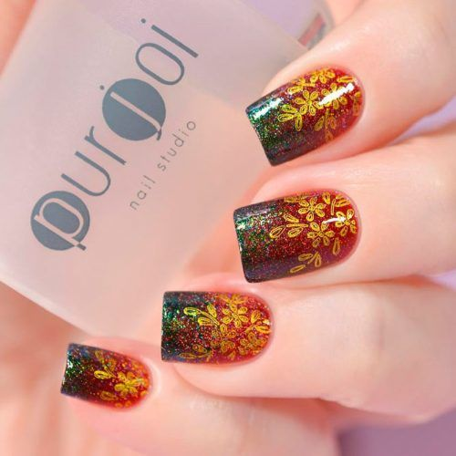 Holographic Ombre Nail Art #ombrenails #stampingnails